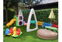 Детская площадка (песочницы, горки, домики, батуты)