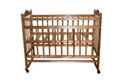 """Детская кроватка """"Эстель 1"""" цвет:слоновая кость, натуральный , белый, орех."""