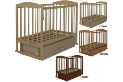 Кровать детская СКВ-Комп арт.122005 цвет береза, 122006 бук, 122007 орех.
