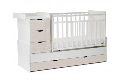 Детская кроватка-трансформер  СКВ.540031-212 (жираф)