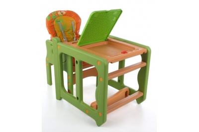 """Детский стульчик  трансформер для кормления """"Garsia"""" цвет шоколад, оранжевый."""