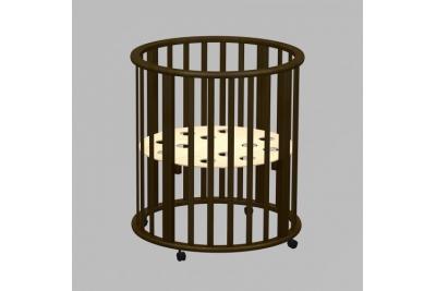Круглая кроватка-трансформер  Оливия венге.