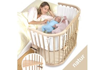 Приставная кроватка TOBI BABYBAY MAXI natura.