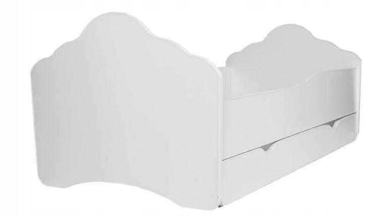 Кровать детская от 3-х лет Оскар (форма Волна) с бортиками, матрасом и ящиком.