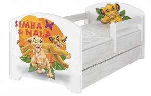 """Кровать детская с перилами Oskar X  Disney """"Симба и Нала""""."""
