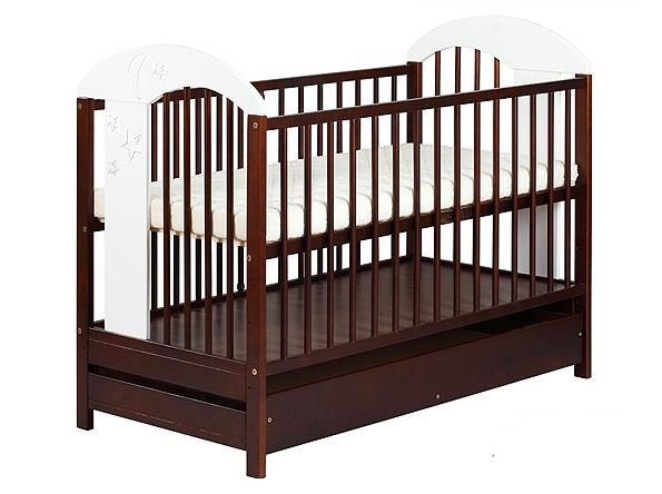 Детская кроватка KLUPS Radek VII без шуфляды, спальное место 120/60см