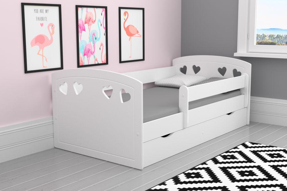 Кровать детская  лаура-2 (модель 2) с бортиками и матрасом.