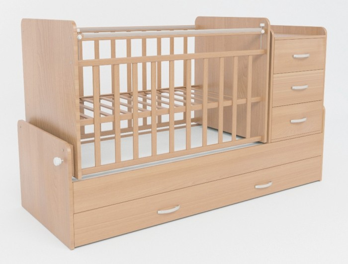 Детская кроватка-трансформер СКВ 534036 цвет бук.
