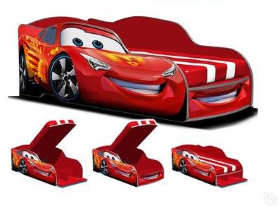 Кровать машина Формула 4.0 красная.