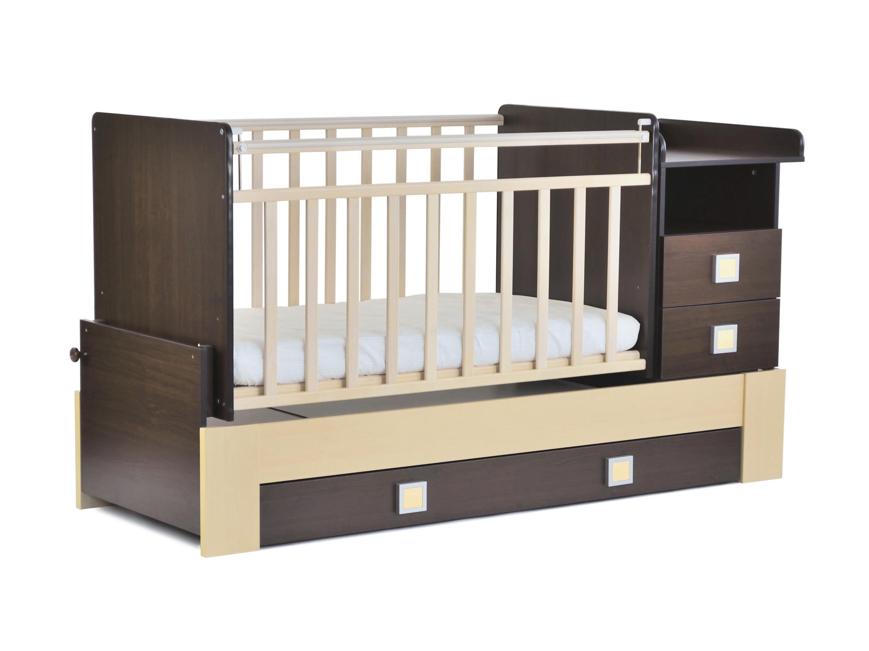 Детская кроватка-трансформер СКВ-8 (830038-5) цвет венге/береза.