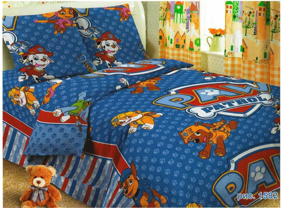 Детское постельное для подростков «Щенячий патруль».