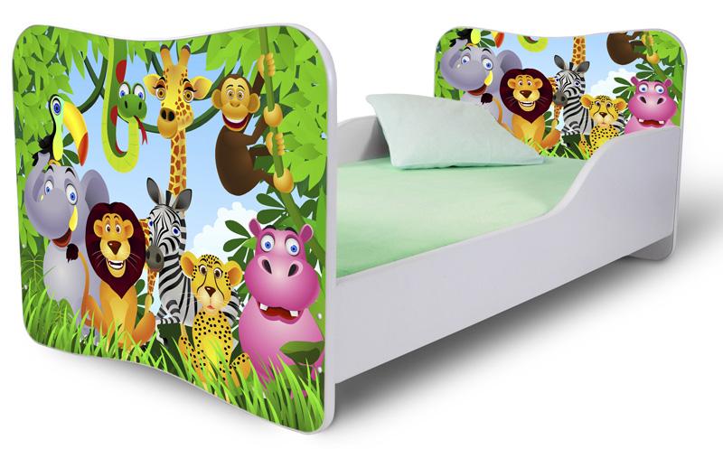 Кровать детская от 3х лет модель Rainbow  Мадагаскар.