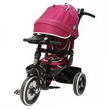 Трехколесный велосипед Mini Trike T400-17 BURGUNDY JEANS Бордовый