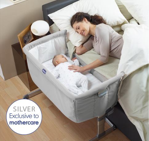 Приставная кроватка Chicco Next2Me silver.