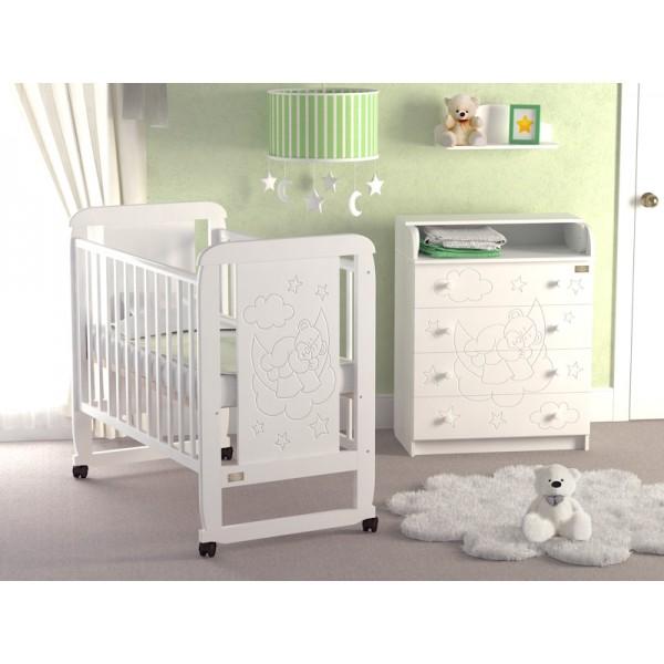 Детская кроватка  Orsetto (колесо-качалка).
