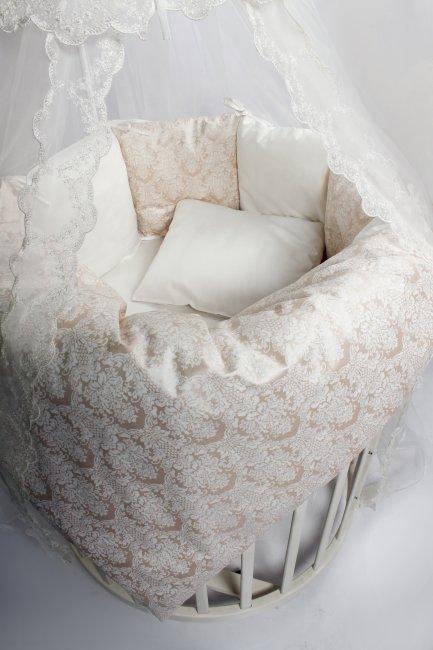 Постельное в круглую кроватку Lappetti Эстель  бежевое.