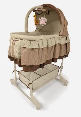 Детская кроватка - колыбель Milly Mally Sweet Melody beige.