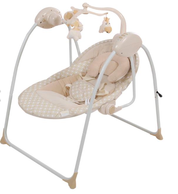 Детские качели для новорожденных PITUSO  ELCHE art.TY-038C с адаптером.