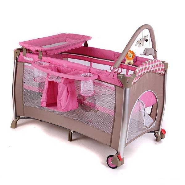 Кровать-манеж Pituso Flora girls toys.
