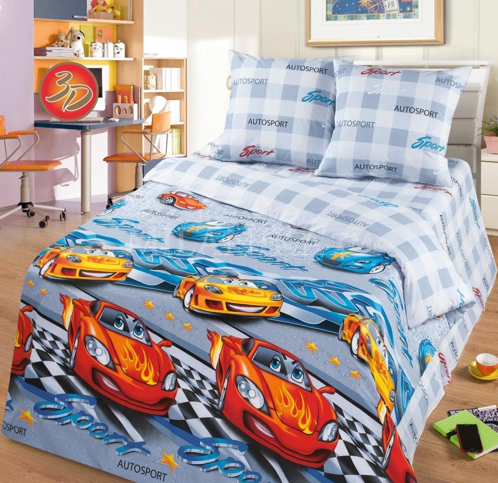 Детское постельное для подростков «Тачки 3д».