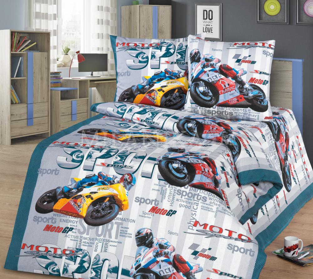 Детское постельное для подростков «Гонки».