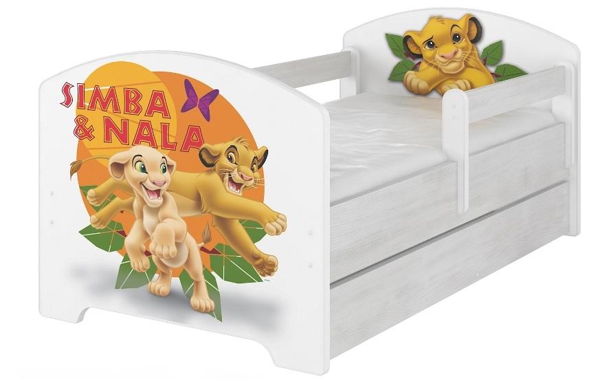 """Кровать детская модель Оскар коллекция Дисней """"Симба""""  с ящиком и матрасом."""