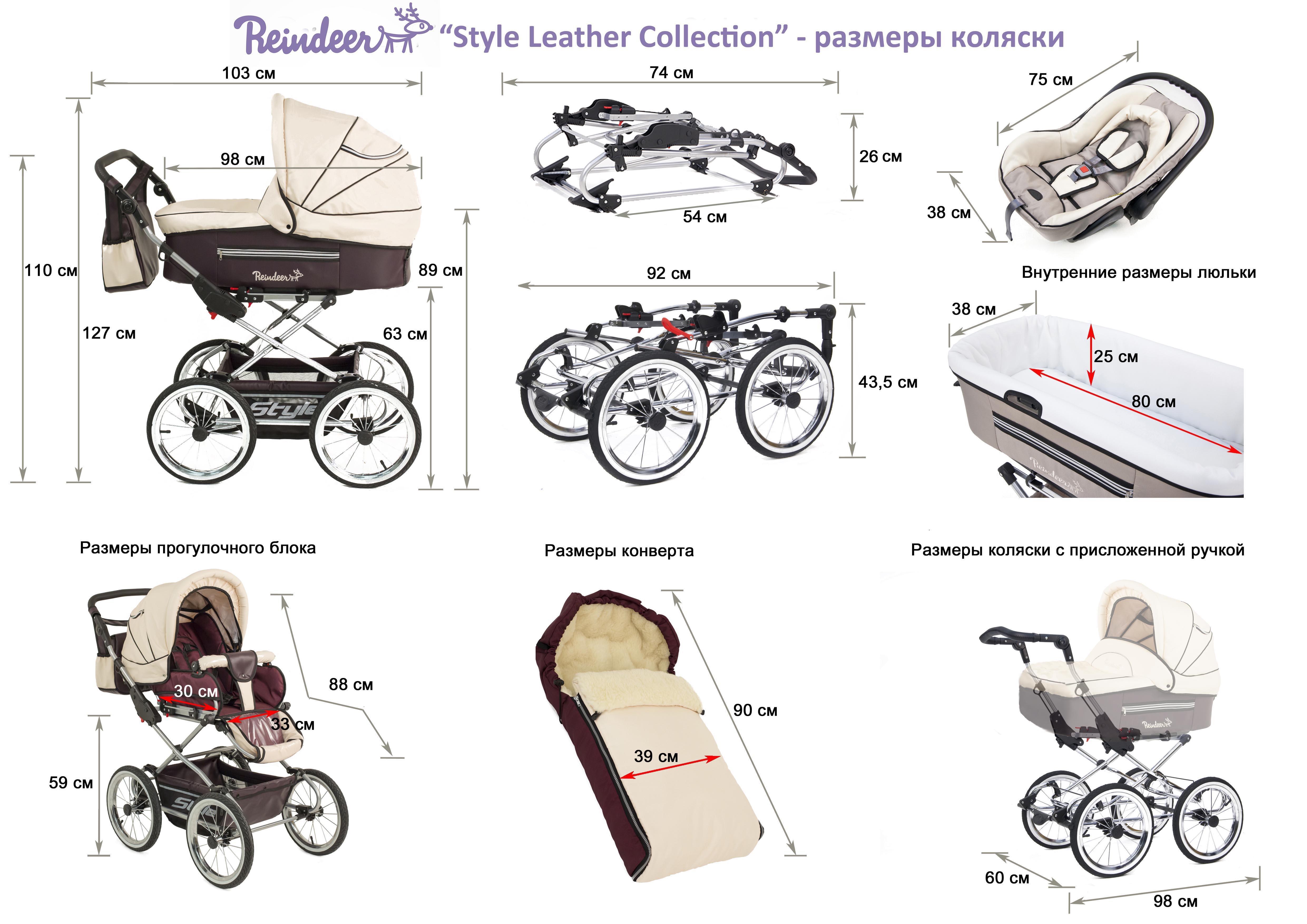 """Детская коляска Reindeer """"Style - Leather Collection"""" 2в1."""