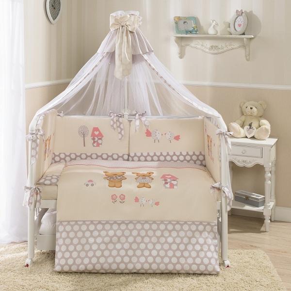 Комплект детского постельного белья Венеция Лапушки (7 предметов).