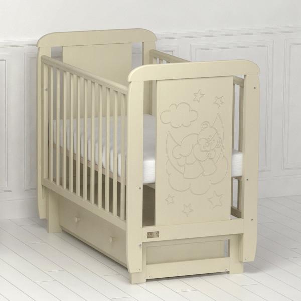 Детская кроватка  Orsetto (с поперечным маятником)