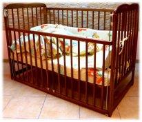 Кроватка детская Bocian Агата опускаемый бок цвет: дуб, орех, тик.