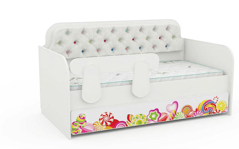 Кровать Детская Конфетка с мягкой спинкой (спальное место 180Х90)
