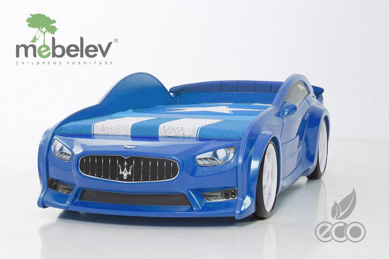 """Детская кровать-машина EVO """"Мазератти"""" синяя."""