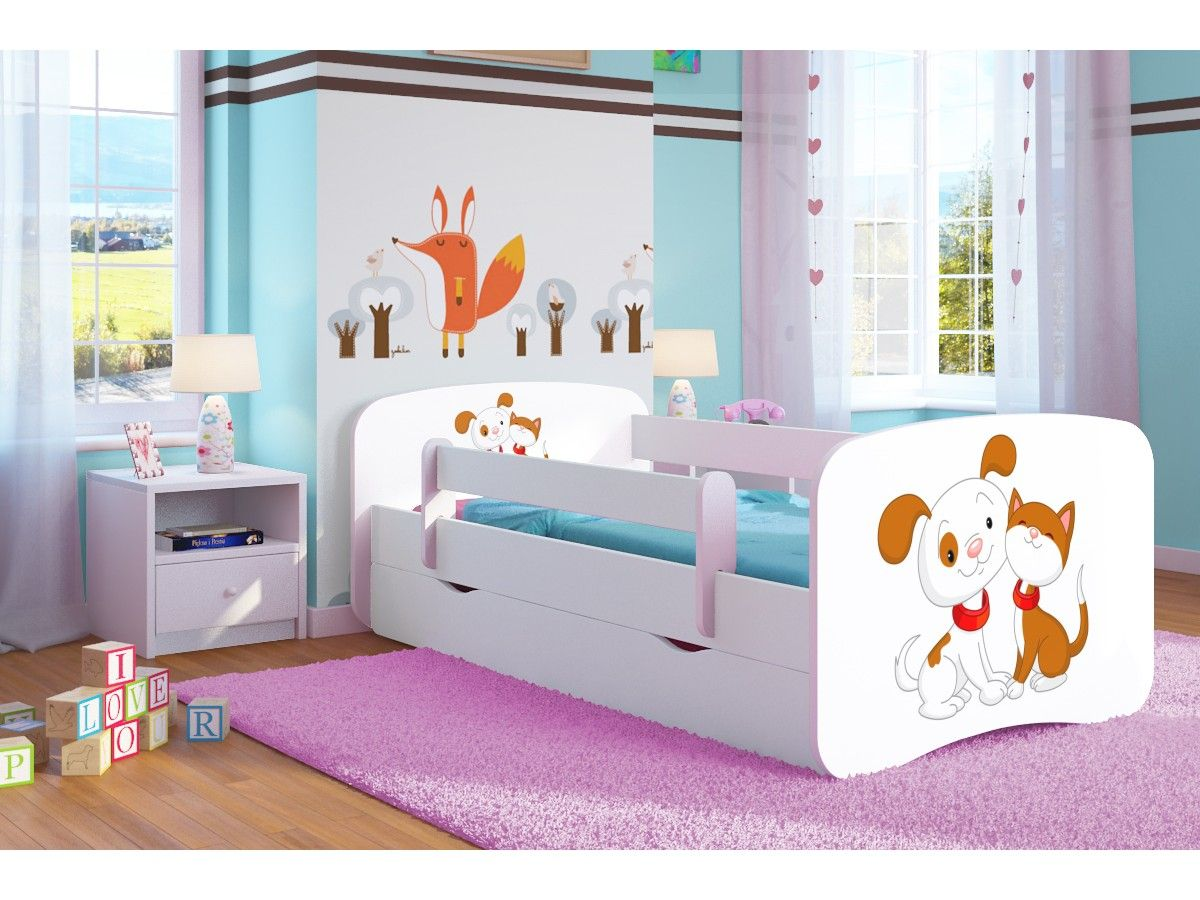 Кровать детская от 3-х лет Оскар с матрасом  коллекция друзья.