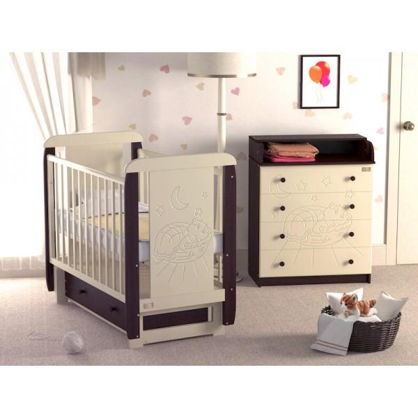 Детская кроватка Micio (с поперечным маятником).