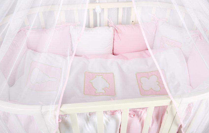 Постельное в круглую кроватку Lappetti Игрушки.