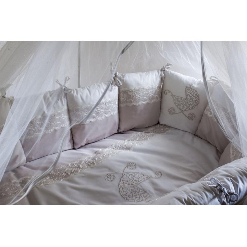 Детское постельное белье в круглую/кроватку Lappetti Колясочка.
