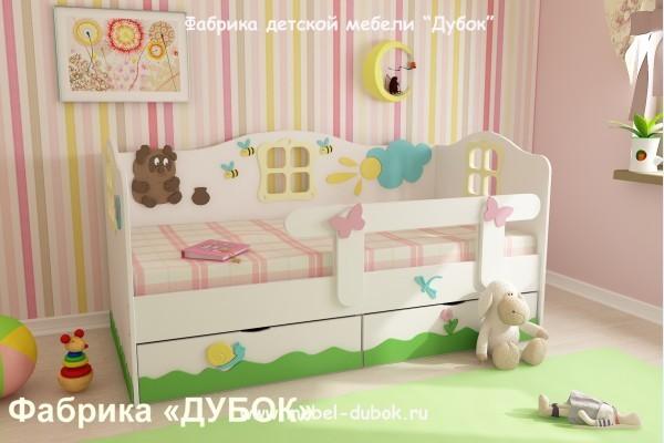 Кровать детская Винни Пух (фабрика Дубок).