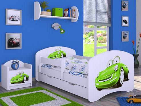Кровать детская от 3-х лет Оскар с матрасом  коллекция машинки.