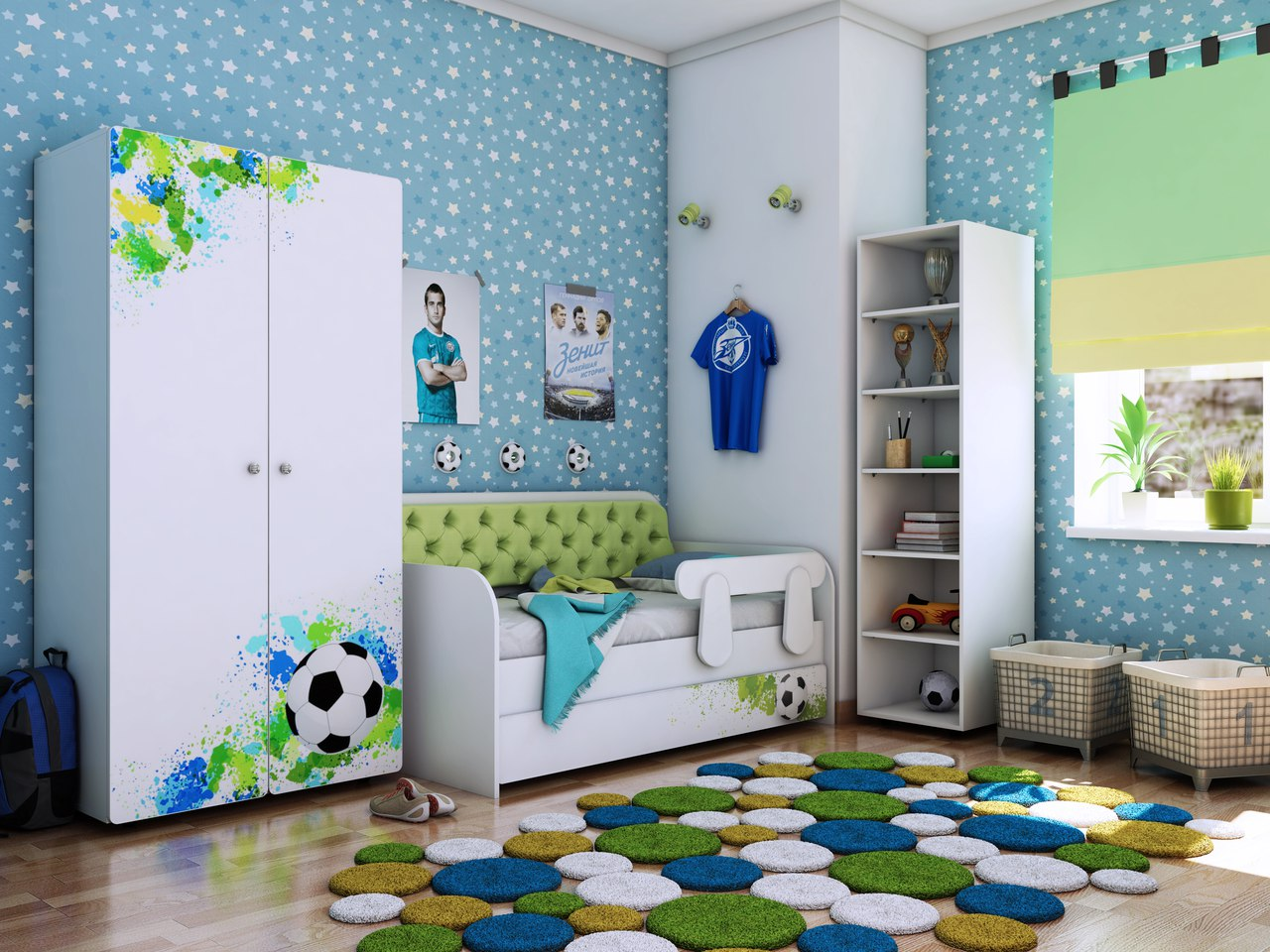 Детская комната Классик коллекция Футбол.