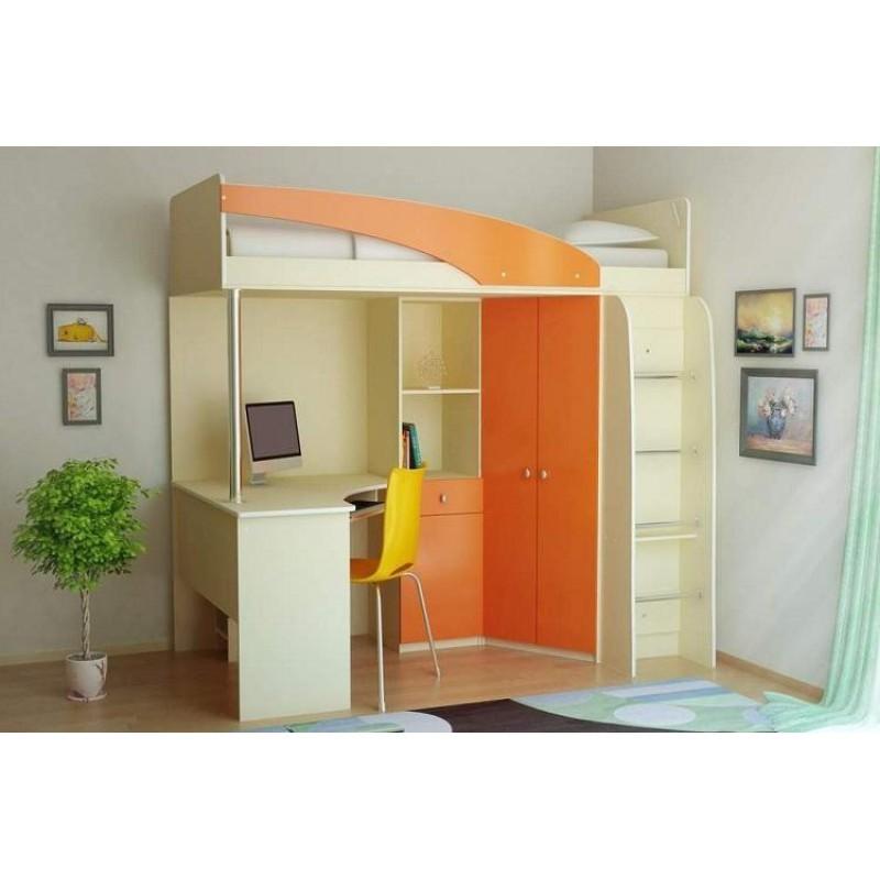 Детская кровать-чердак Беби манго