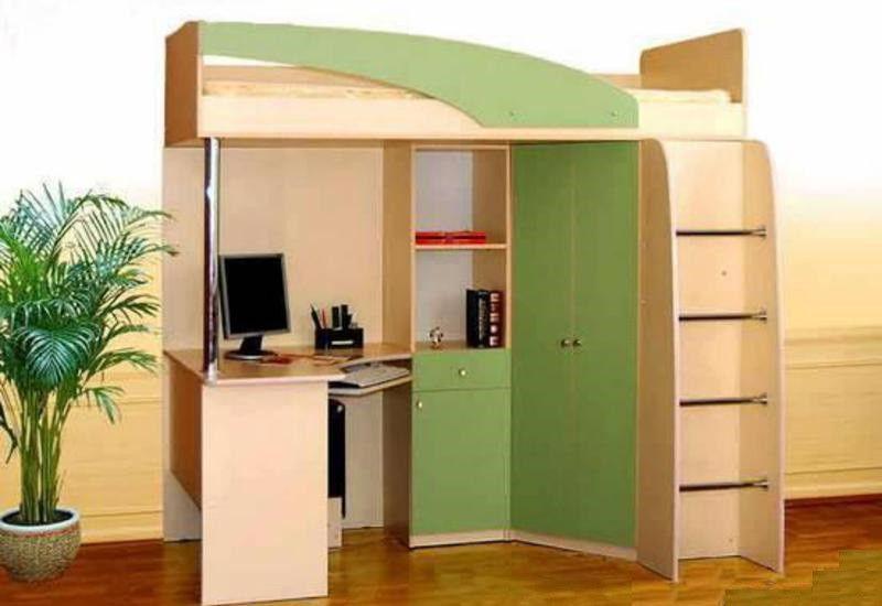 Детская кровать-чердак Беби зеленый