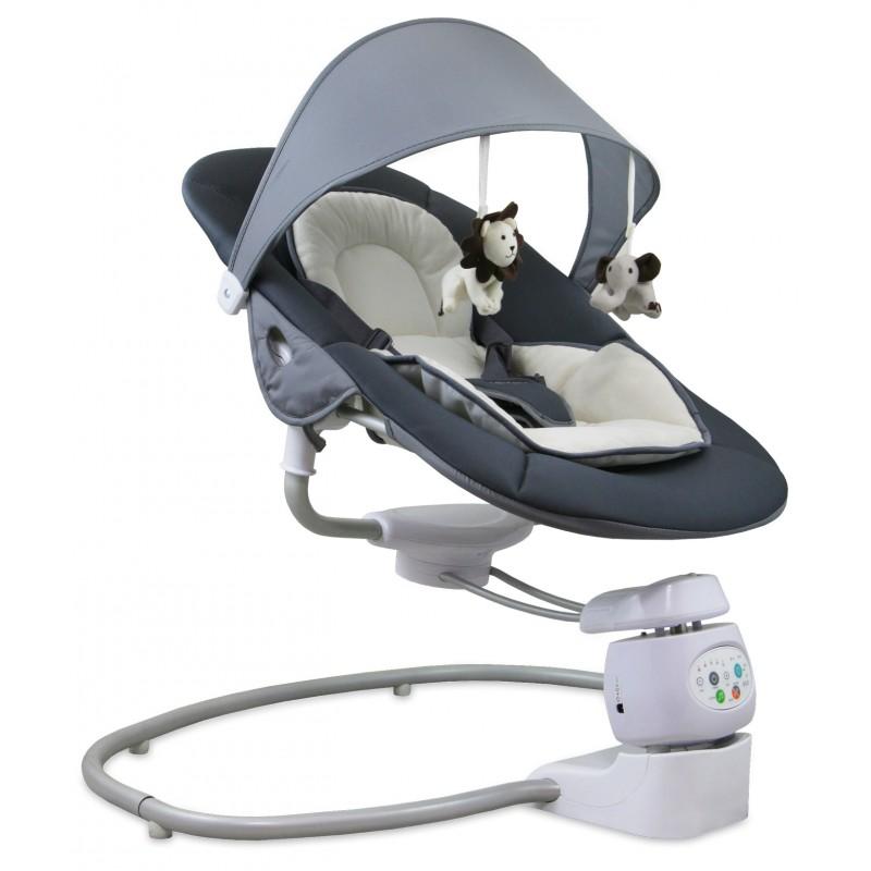 Детские электронные качели Baby Mix BY002 (работают от адаптера и от батареек)