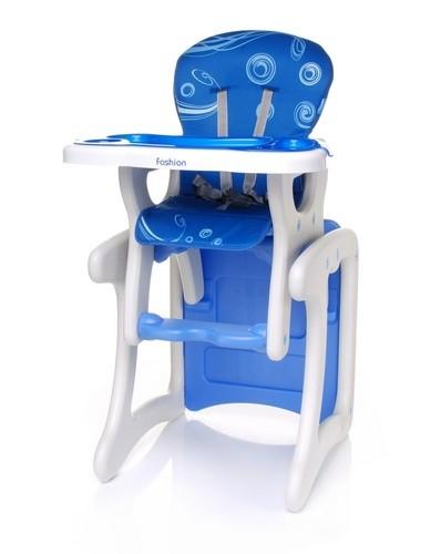 Стульчик-трансформер для кормления Fashion синий.