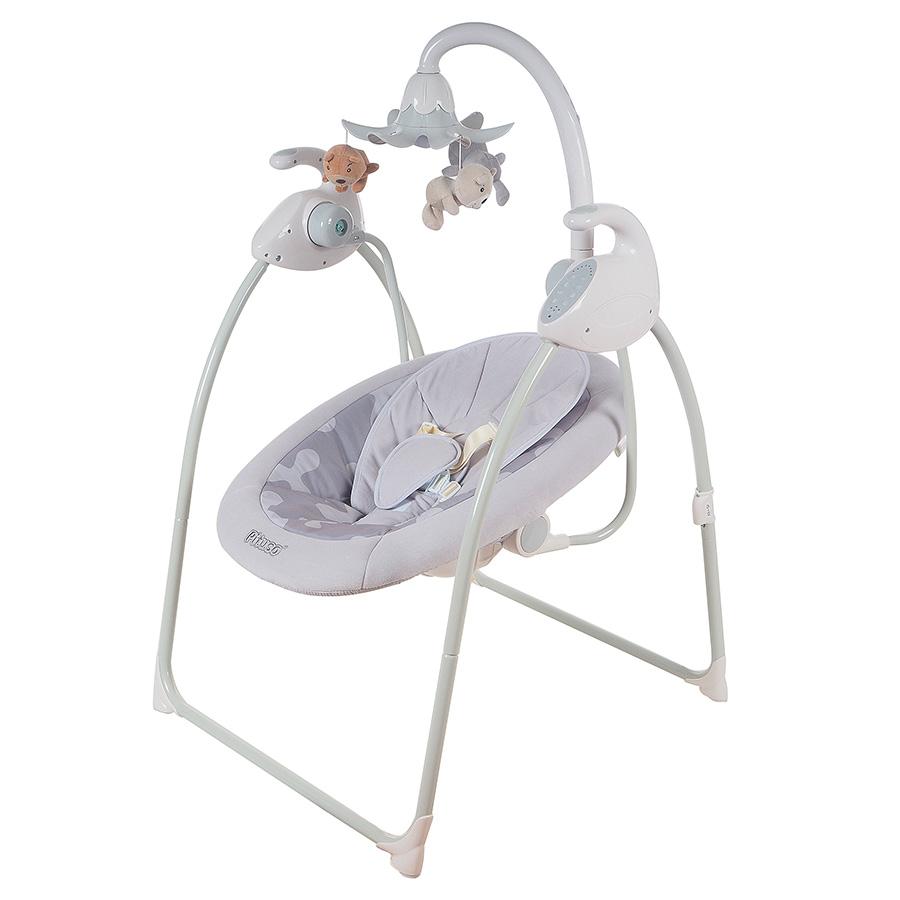 Детские качели для новорожденных Pituso TY-028P серый.
