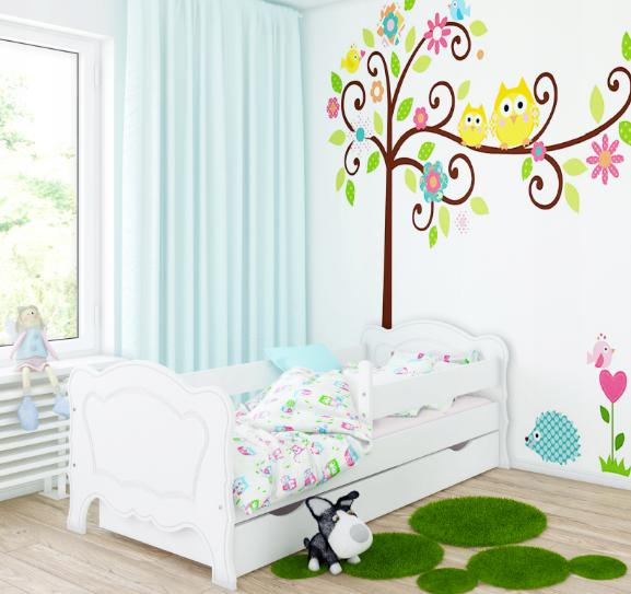 Кровать детская  Мико с бортиками.