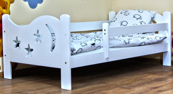 Кровать подростковая Камила с барьерами и матрасом  цвет:белый.