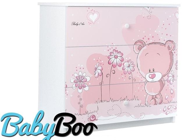 Комод детский серия Оскар Розовый мишутка.