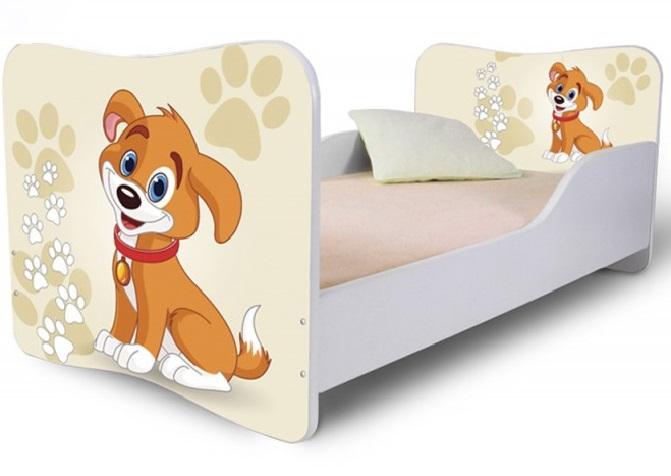 Кровать детская от 3х лет модель Rainbow серия Собачки.