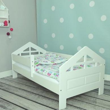 Кровать детская от 3х лет Pola 2 с матрасом и бортиком.