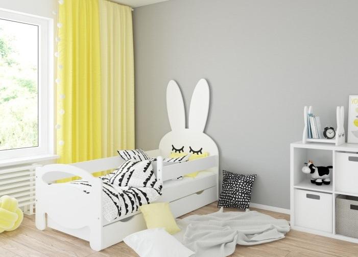 Кровать детская от 3х лет Bunny с матрасом, бортиком и подкроватным ящиком.
